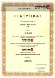 Certyfikat BROTJE   HMI Szczecin