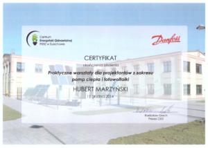 Certyfikat CEO Sulechów   HMI Szczecin