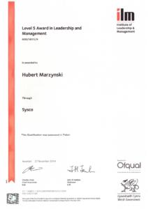 ILM Certyfikat   HMI Szczecin