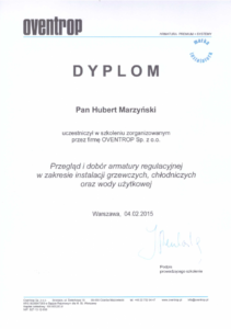 Dyplom OVENTROP   HMI Szczecin