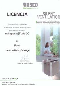 Licencja VASCO   rekuperacja