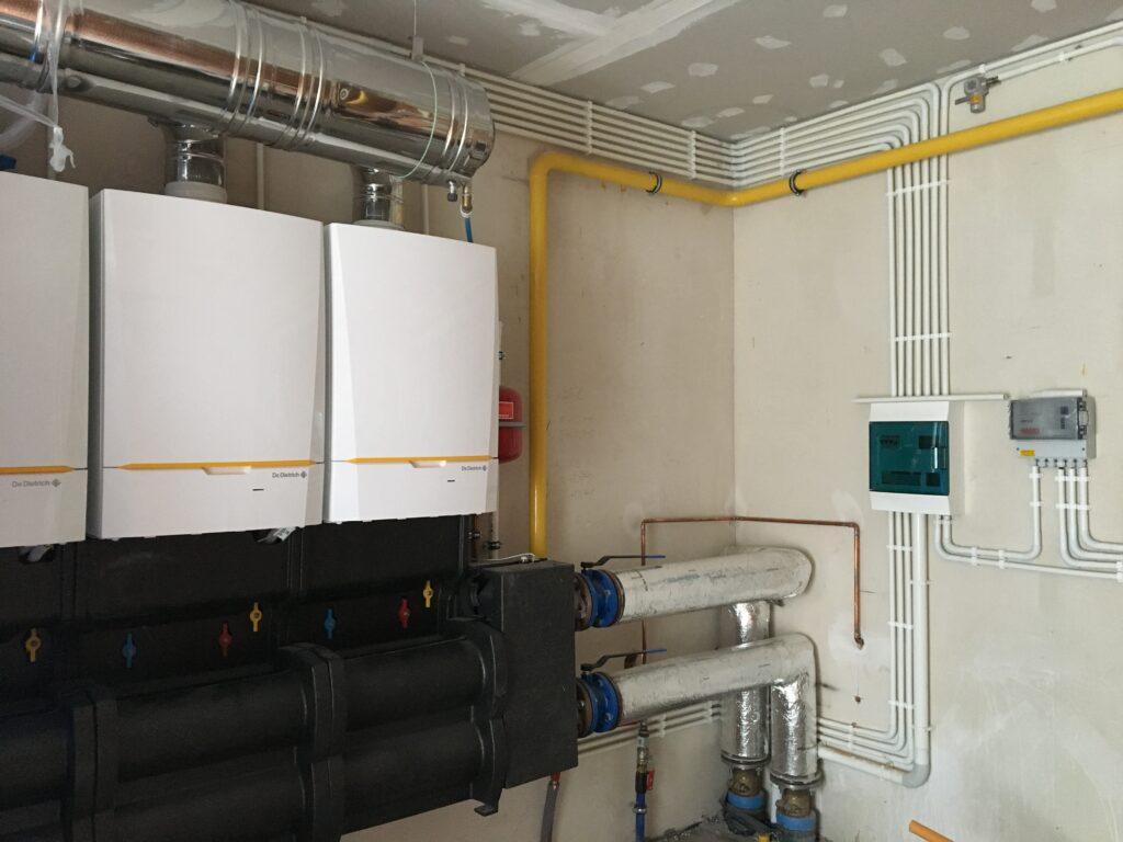 De Dietrich w kaskadzie dla budynku 1400 m2 | ogrzewanie gazowe HMI Szczecin