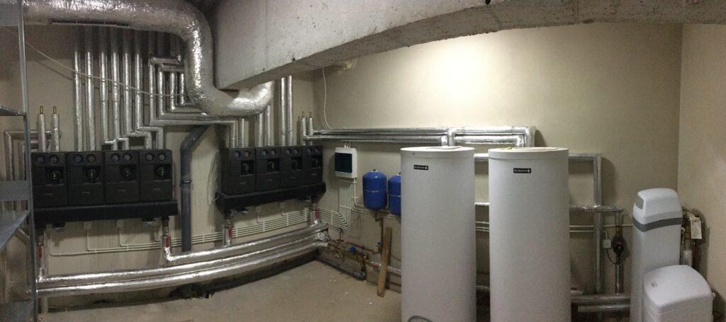wymiennikownia dla budynku 1400 m2 | ogrzewanie gazowe HMI Szczecin