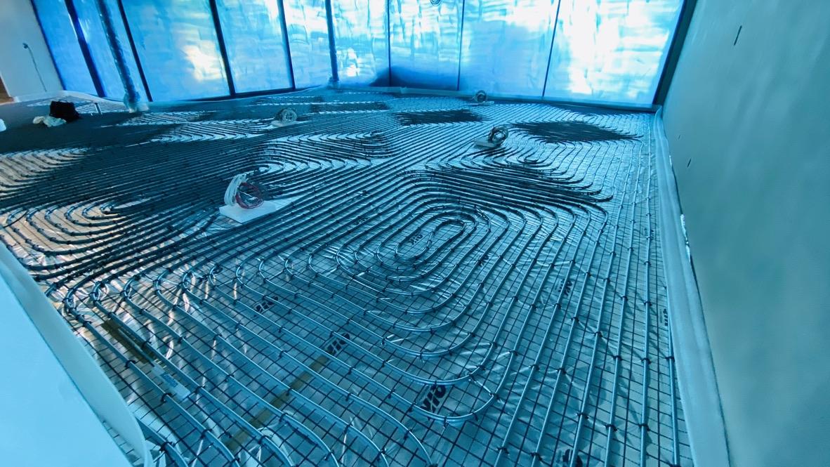 ogrzewanie podłogowe Szczecin Osów | przed wylaniem posadzki | HMI🔴🔵