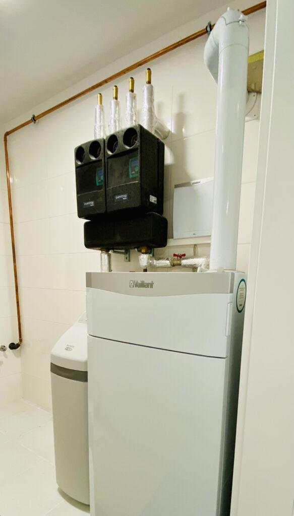 kotłownia VAILLANT dla domu jednorodzinnego | ogrzewanie gazowe | Wołczkowo | HMI Szczecin