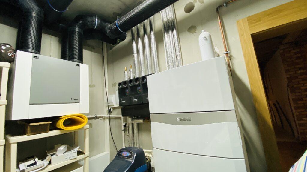 kotłownia VAILLANT dla domu jednorodzinnego | ogrzewanie gazowe | Szczecin - Warszewo | HMI Szczecin