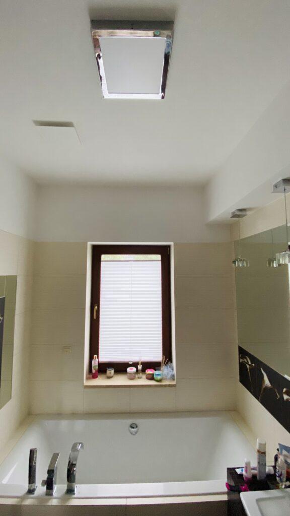 anemostat w przykładowym pomieszczeniu | łazienka