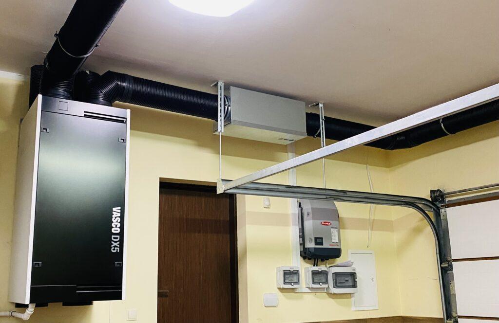 centrala wentylacyjna VASCO DX5 wraz z filtrem antysmogowym NOx, SOx z aktywnym węglem