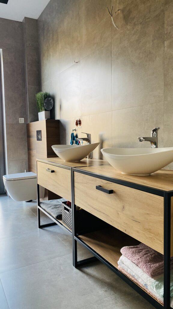 stelaż do WC z umywalkami nablatowymi i bateriami HANSGROHE | HMI Szczecin