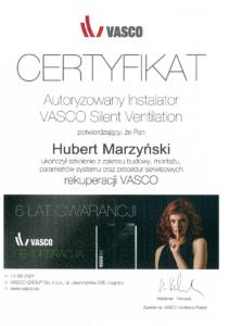 Certyfikat VASCO